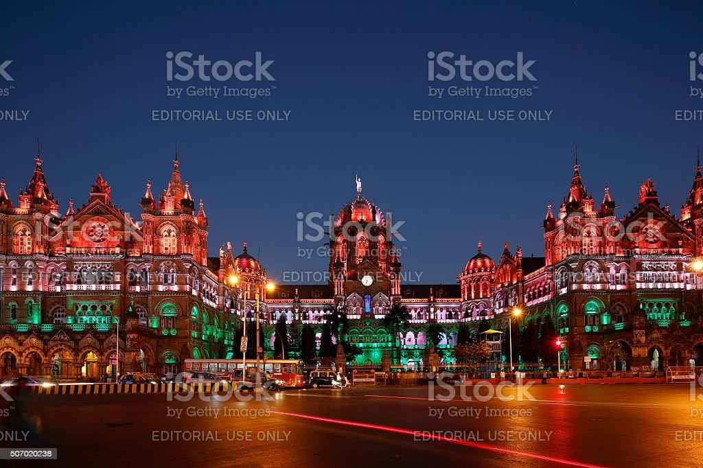 Chhatrapati Shivaji Terminus (CST) formerly Victoria Terminus in Mumbai stock photo