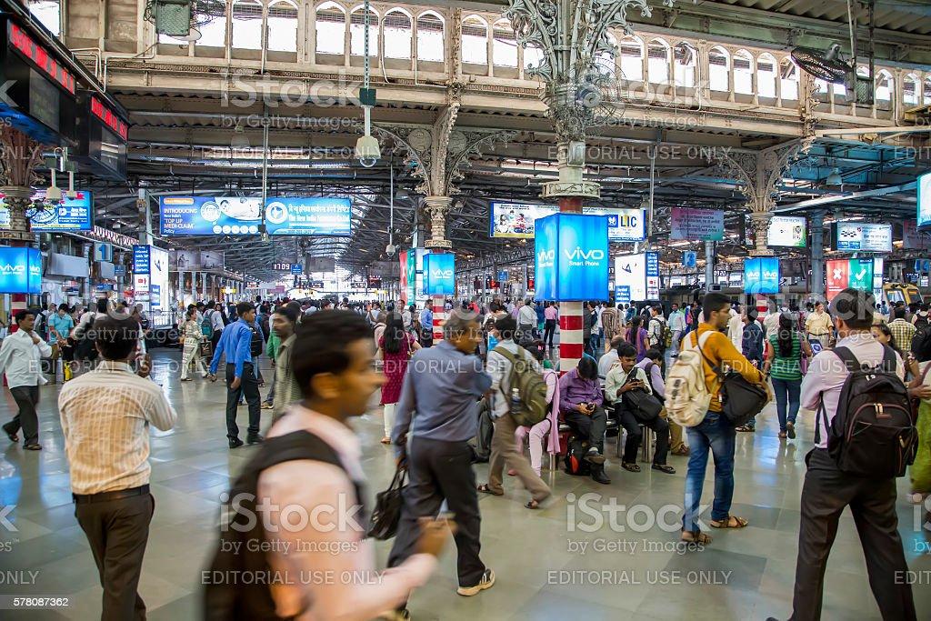 Chhatrapati Shivaji Terminus in Mumbai, India stock photo