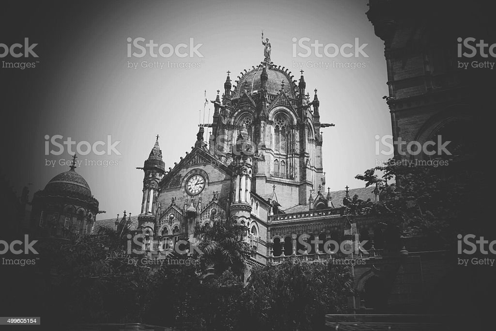 Chhatrapati Shivaji Terminus or CST, Mumbai stock photo