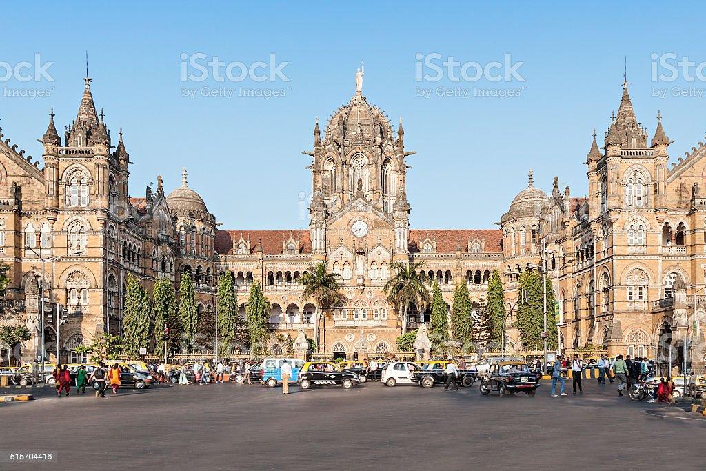 Chhatrapati Shivaji Terminus stock photo