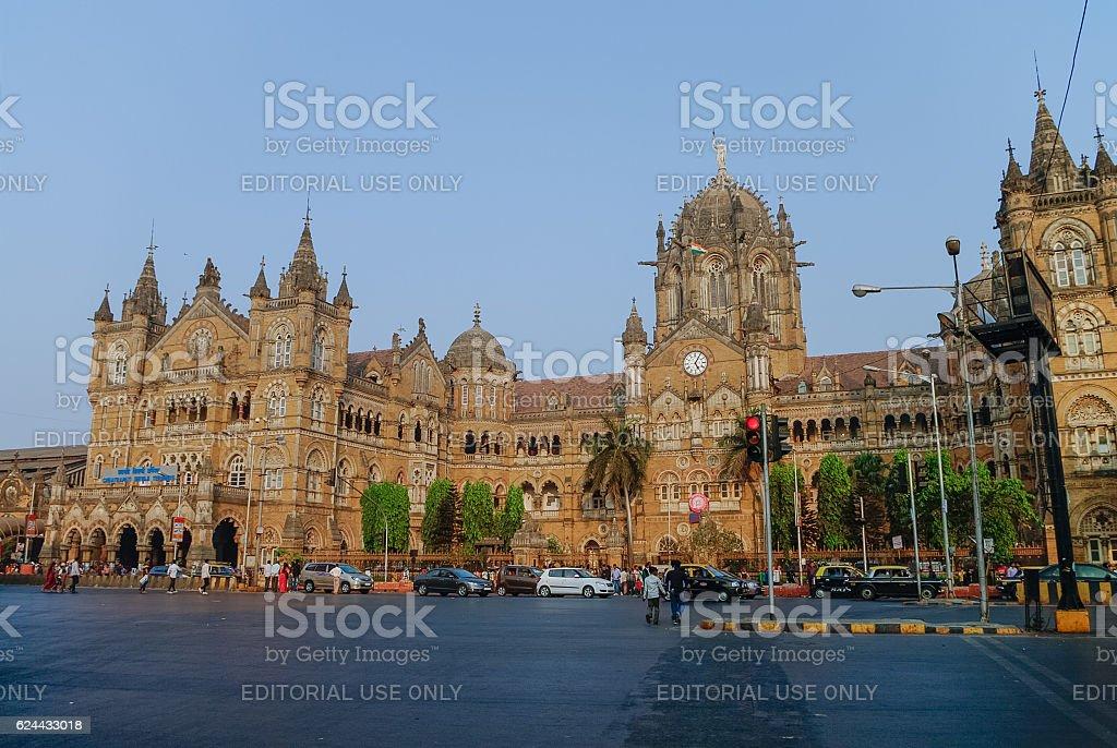 Chhatrapati Shivaji Terminus (CST) stock photo