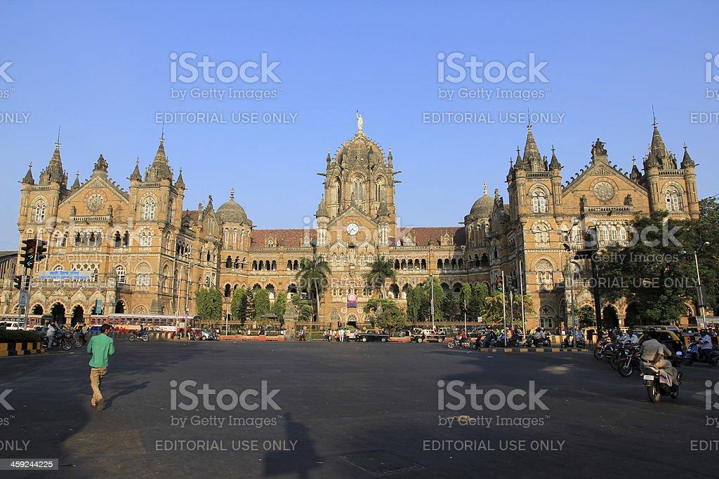 Chhatrapati Shivaji Terminus Railway Station in Mumbai, India stock photo