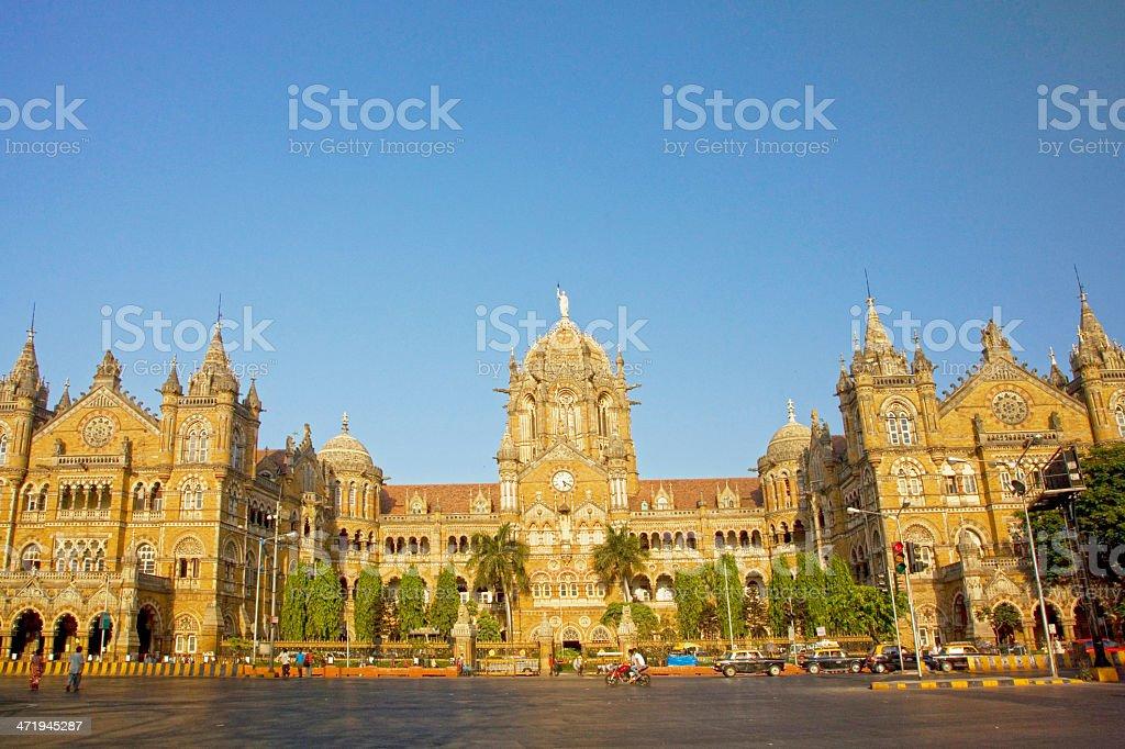 Chhatrapati Shivaji, Victoria Terminus, Mumbai, India. stock photo