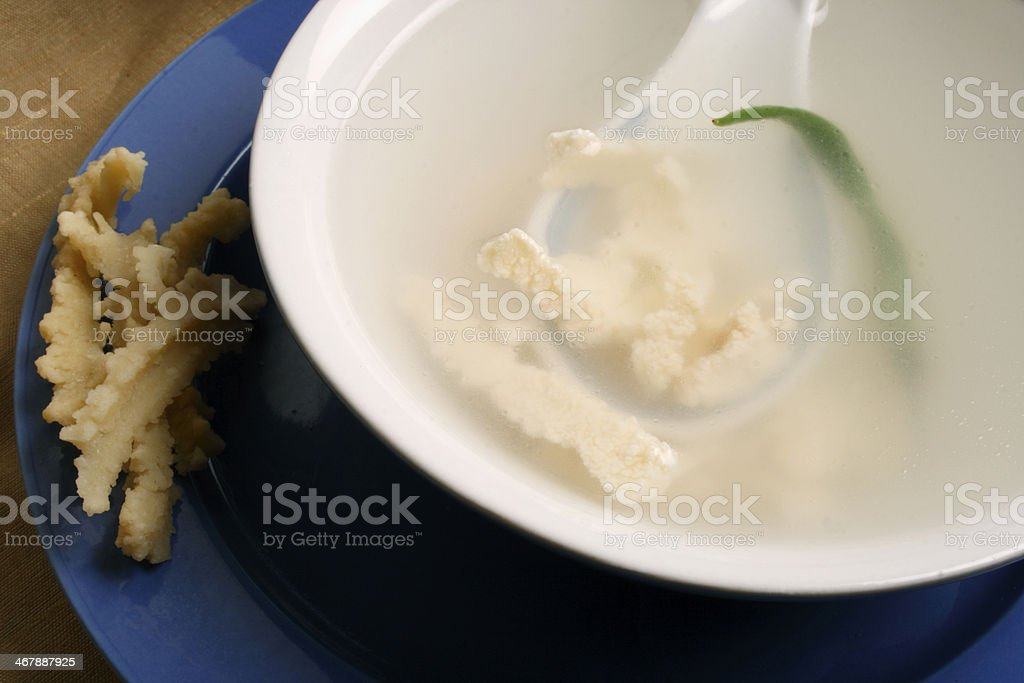 Chhurpi soup is a fermented dairy product royalty-free stock photo
