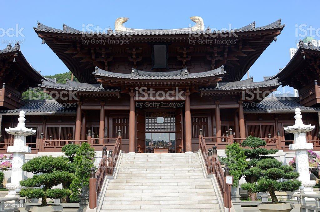 Chi Lin Nunist Temple, Hong Kong stock photo