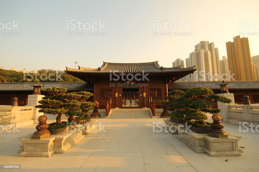 Chi Lin Nunnery and Nan Lian Garden stock photo
