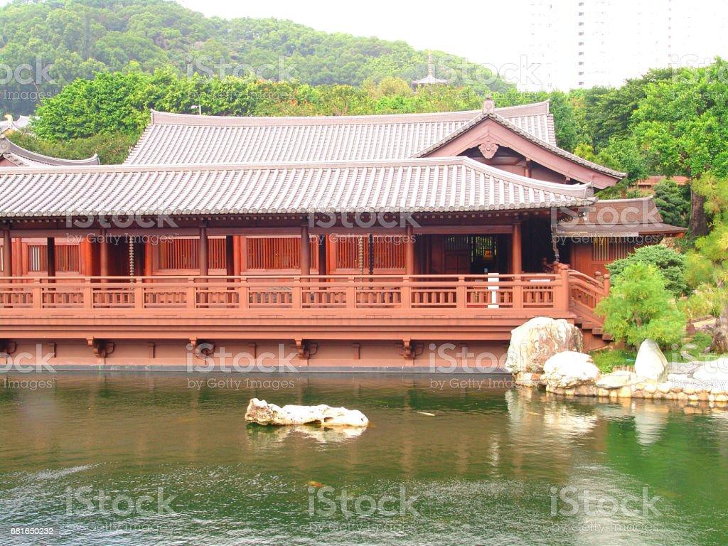 Chi Lin Nunnery, Hong Kong stock photo