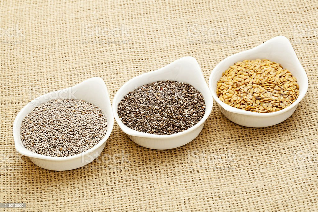 chia and flax seed royalty-free stock photo