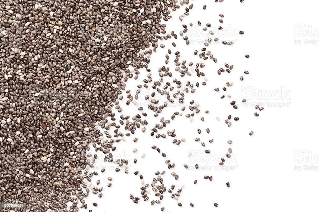Chia seeds background stock photo