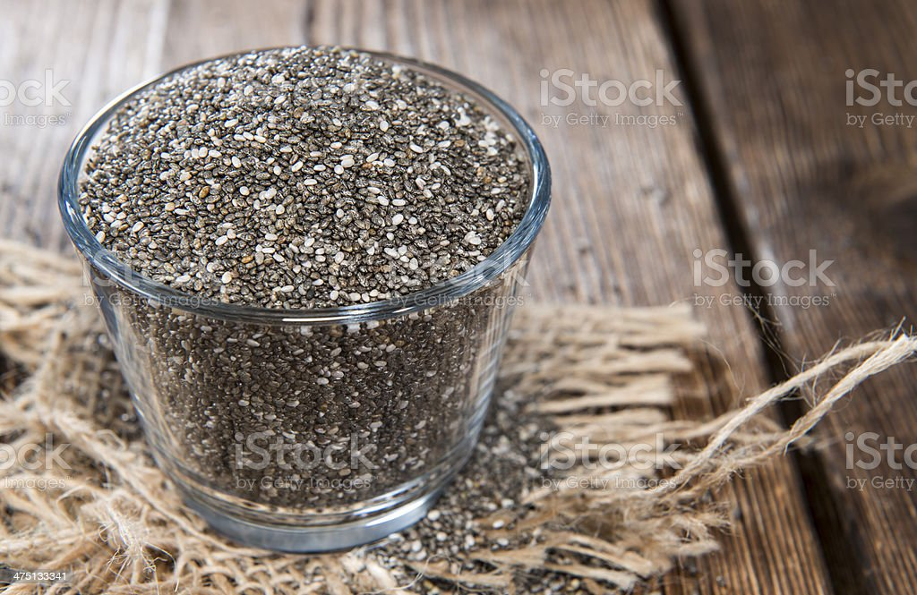 Chia Seeds in a small bowl royalty-free stock photo