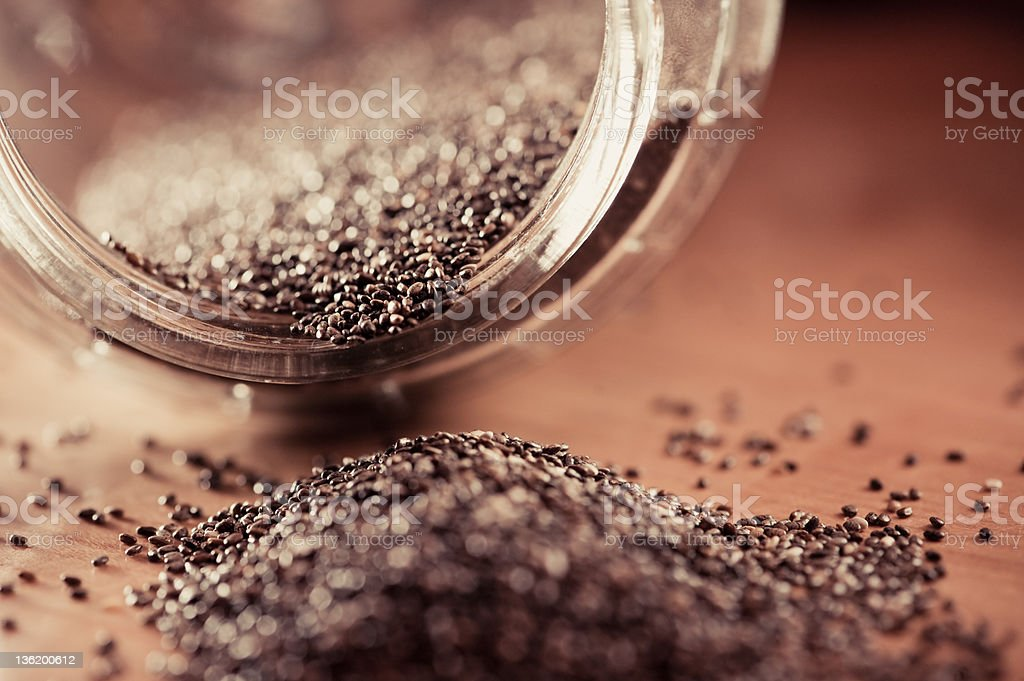 Chia Seeds Super Food royalty-free stock photo