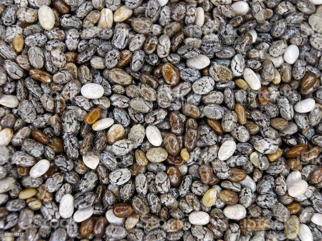 Chia Seeds Up Close stock photo