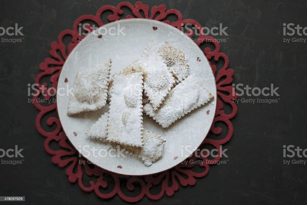 Chiacchiere, carnival fried pastry royalty-free stock photo