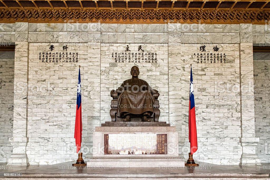 Chiang Kai Shek memorial hall detail, Taiwan stock photo