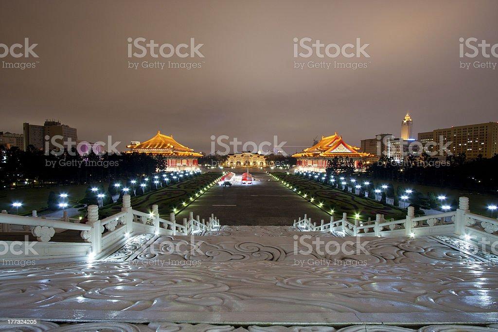 chiang kai shek memorial hall royalty-free stock photo