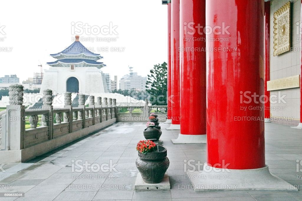 Chiang Kai-shek Memorial Hall looking from the National Theater stock photo