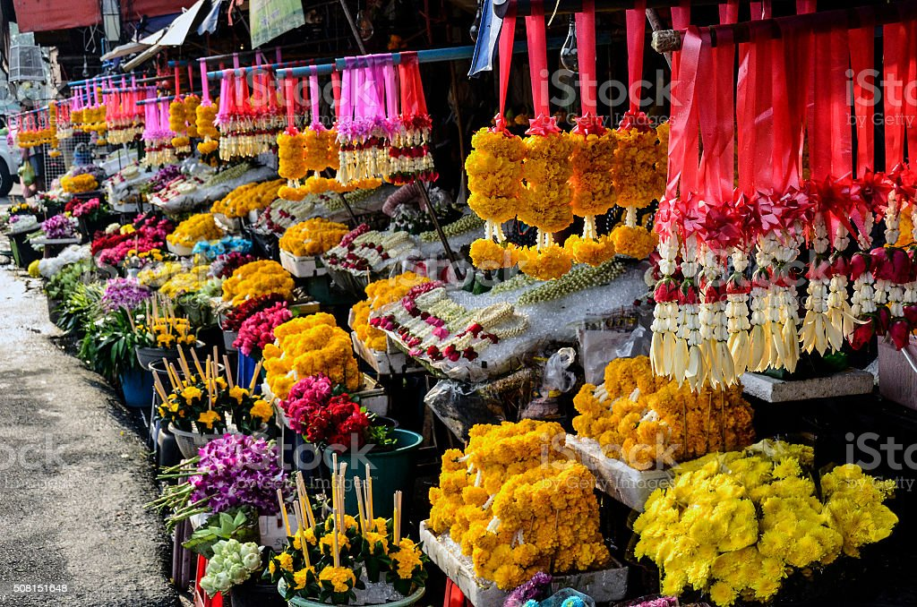 Chiang Mai flower market stock photo