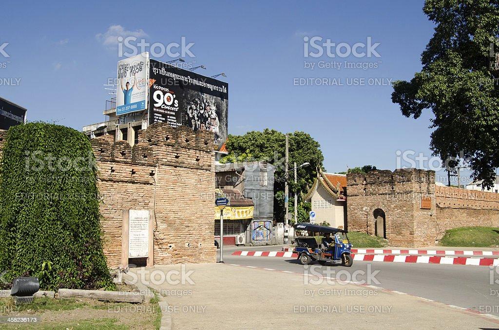 Chiang Mai Gate, Thailand stock photo