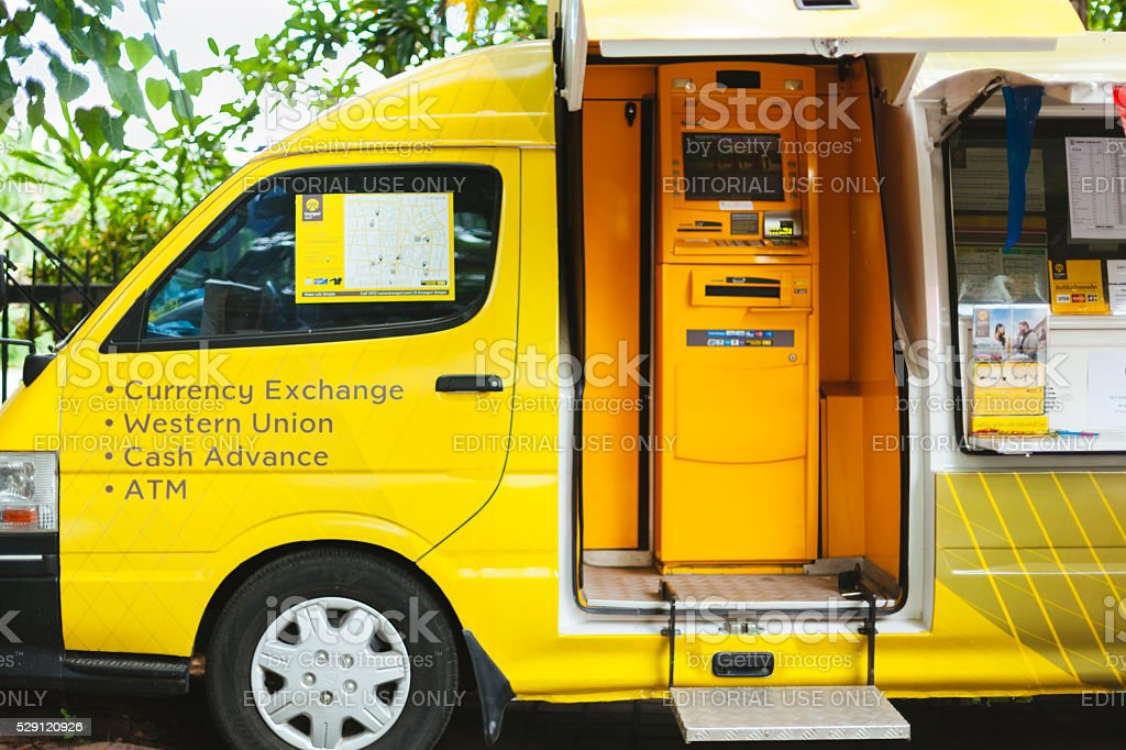 Chiang mai mobile ATM stock photo