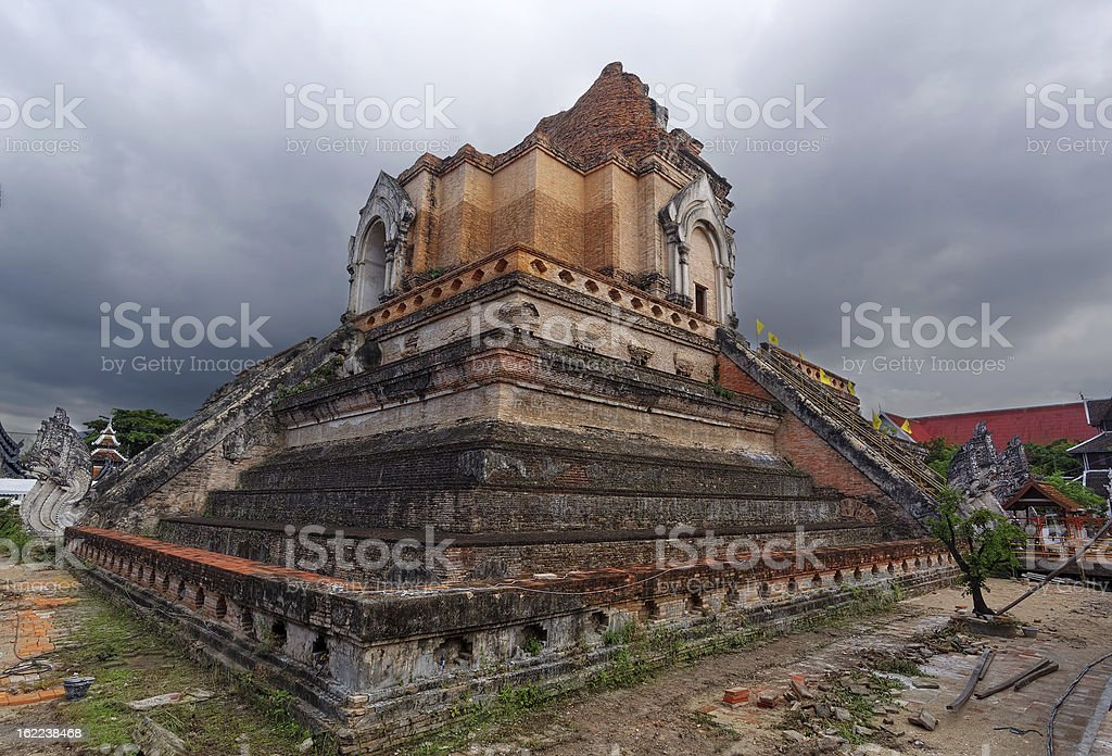 WAT JEDI LUANG TEMPLE Chiang Mai stock photo