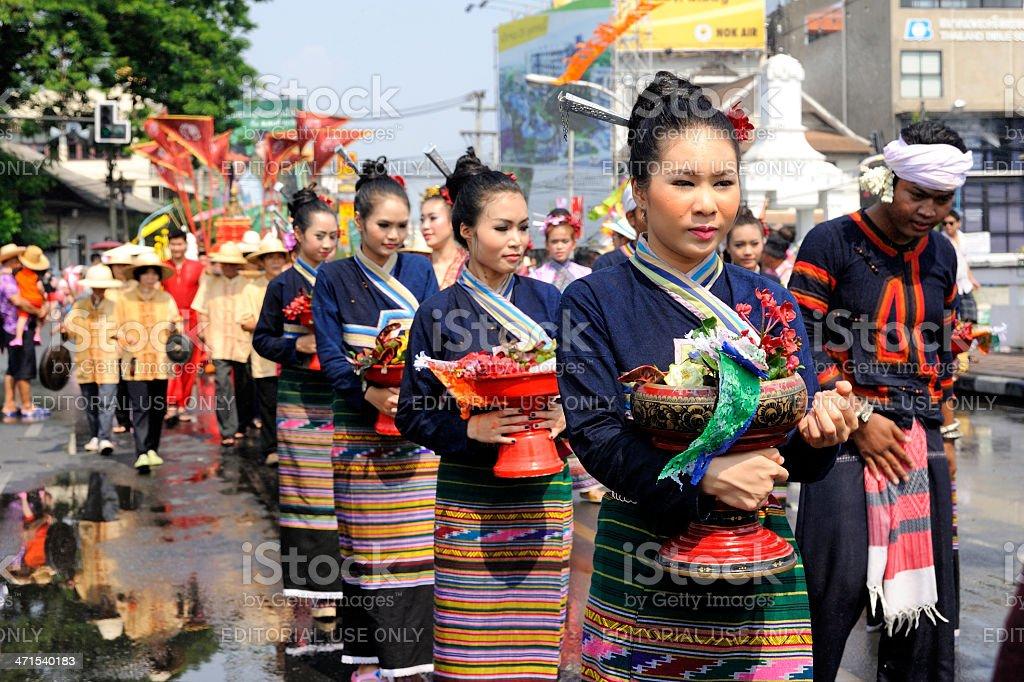 Chiang Mai Songkran festival 2013 royalty-free stock photo