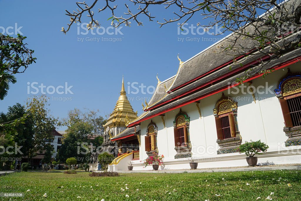 Chiang Man Temple stock photo