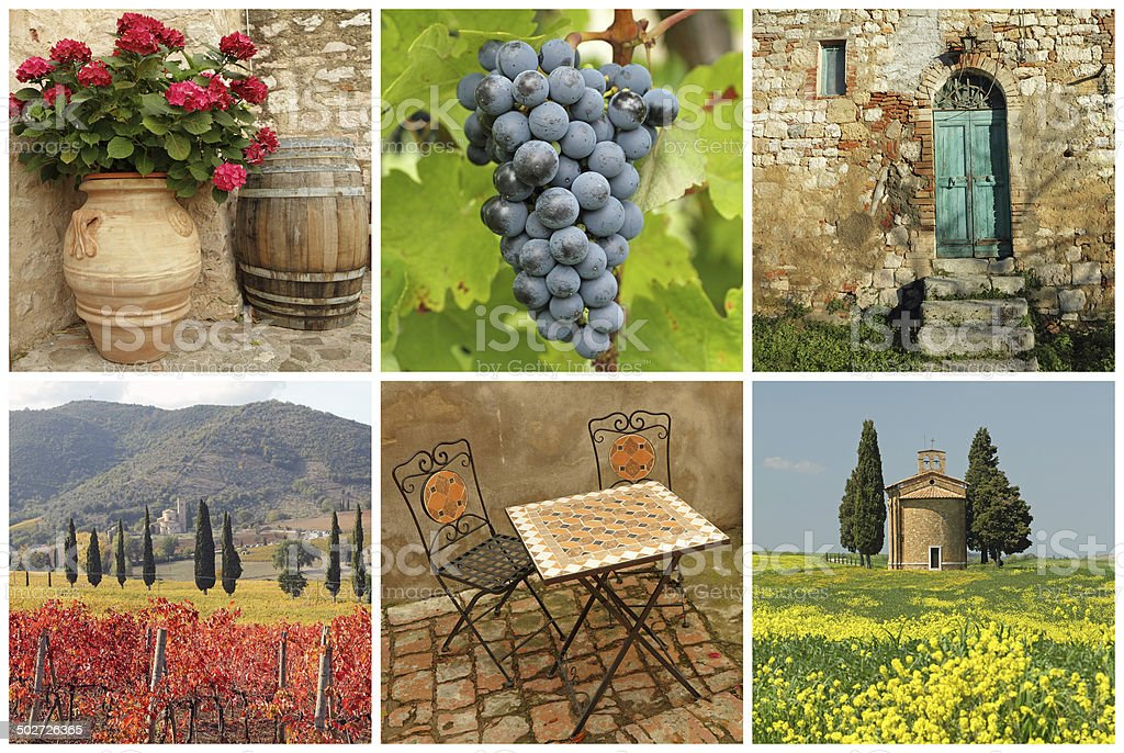 Chianti collage stock photo