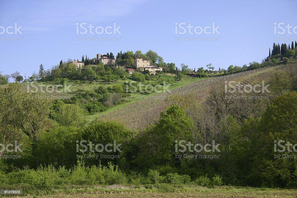 Chianti hills royalty-free stock photo