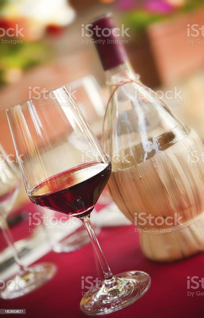 Chianti, red wine stock photo