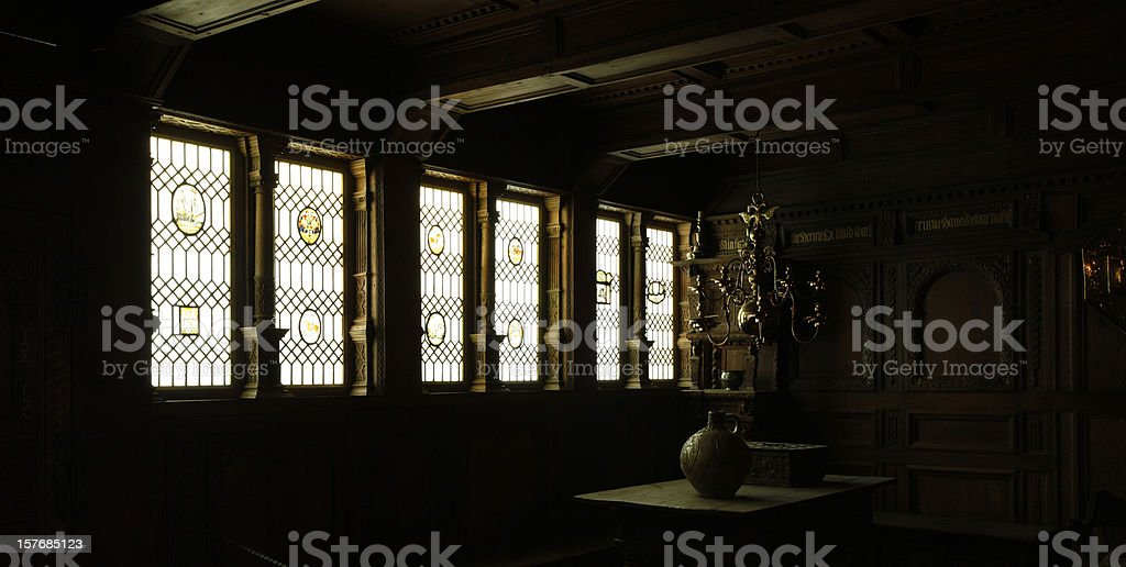 chiaroscuro inside an old danish house royalty-free stock photo