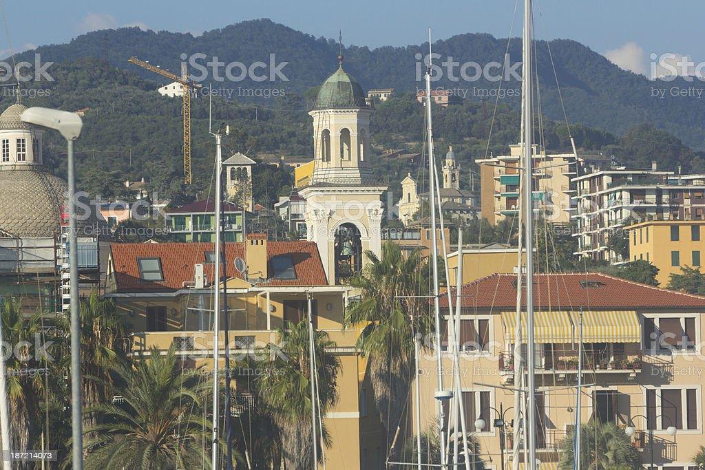 Chiavari on the Riviera di Levante, Italy royalty-free stock photo