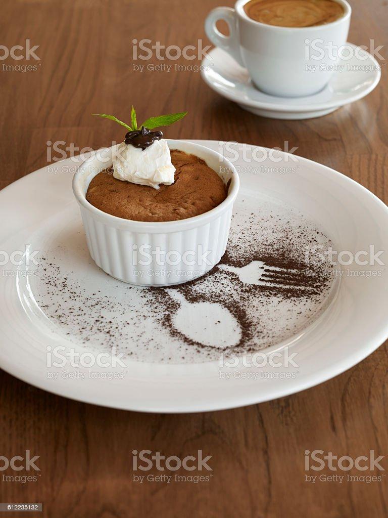 Chic dessert stock photo
