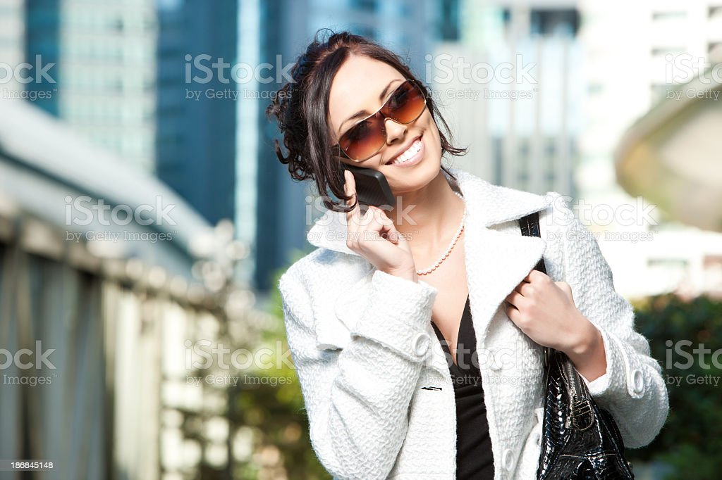 Chic Female Cell Phone User royalty-free stock photo