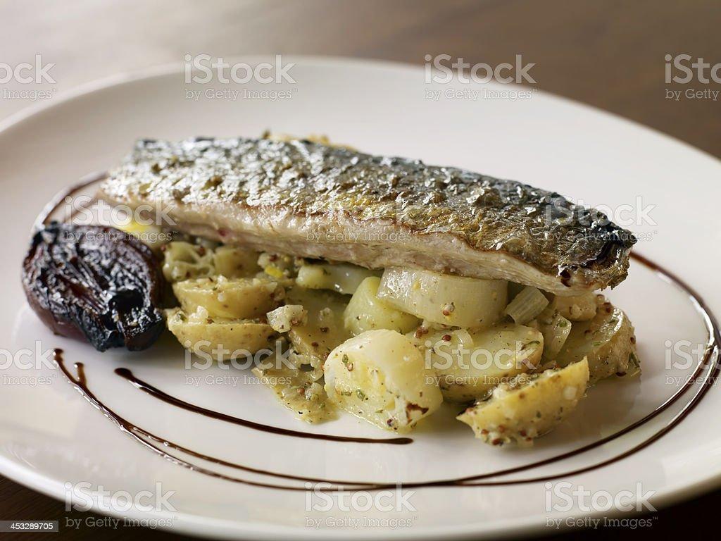 chic fish dish royalty-free stock photo