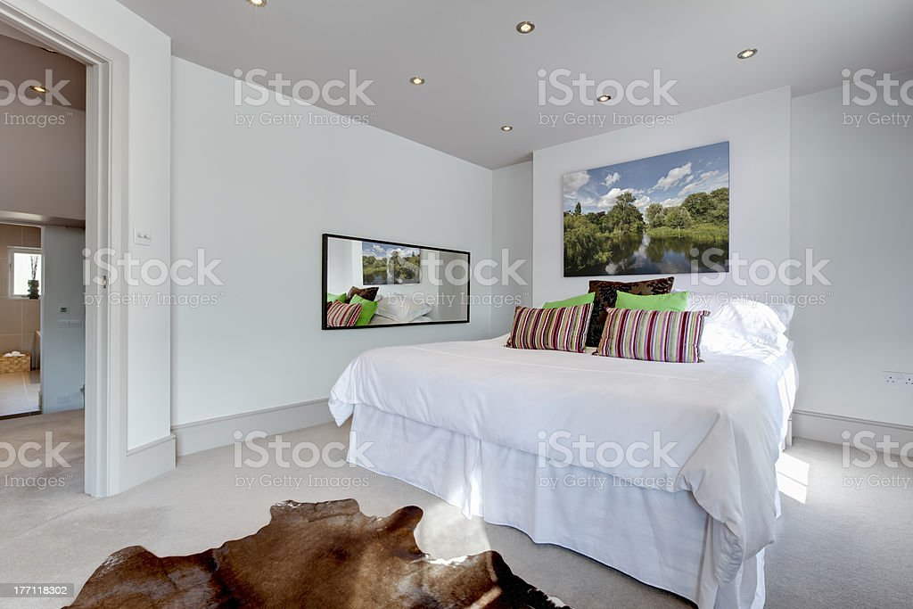 Chic modern bedroom interior royalty-free stock photo