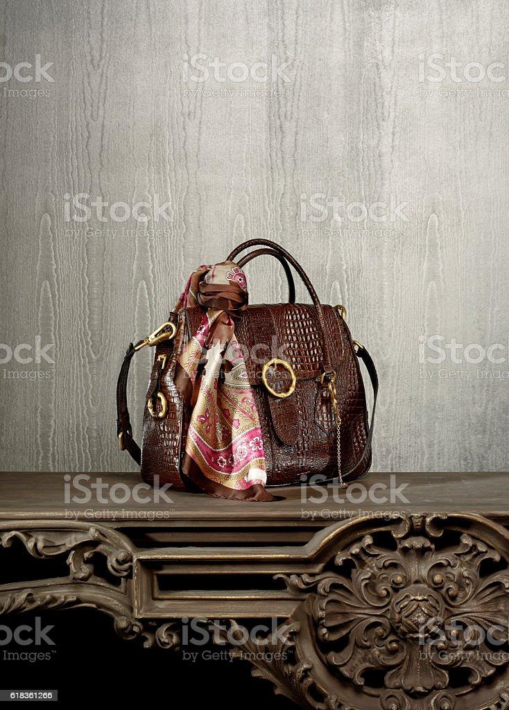 chic woman handbag stock photo