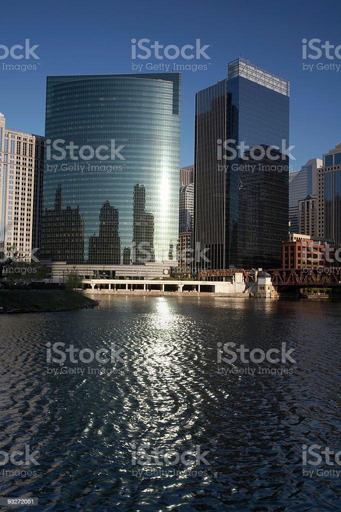 Chicago - 333 Wacker Drive royalty-free stock photo