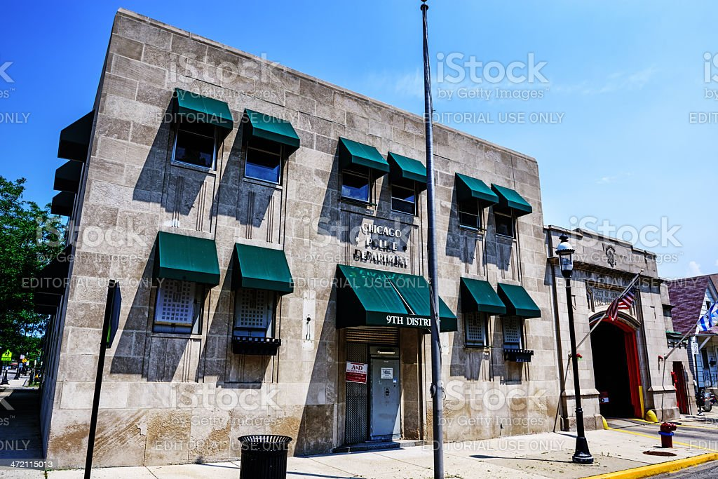 Chicago 9th District Police Department stock photo