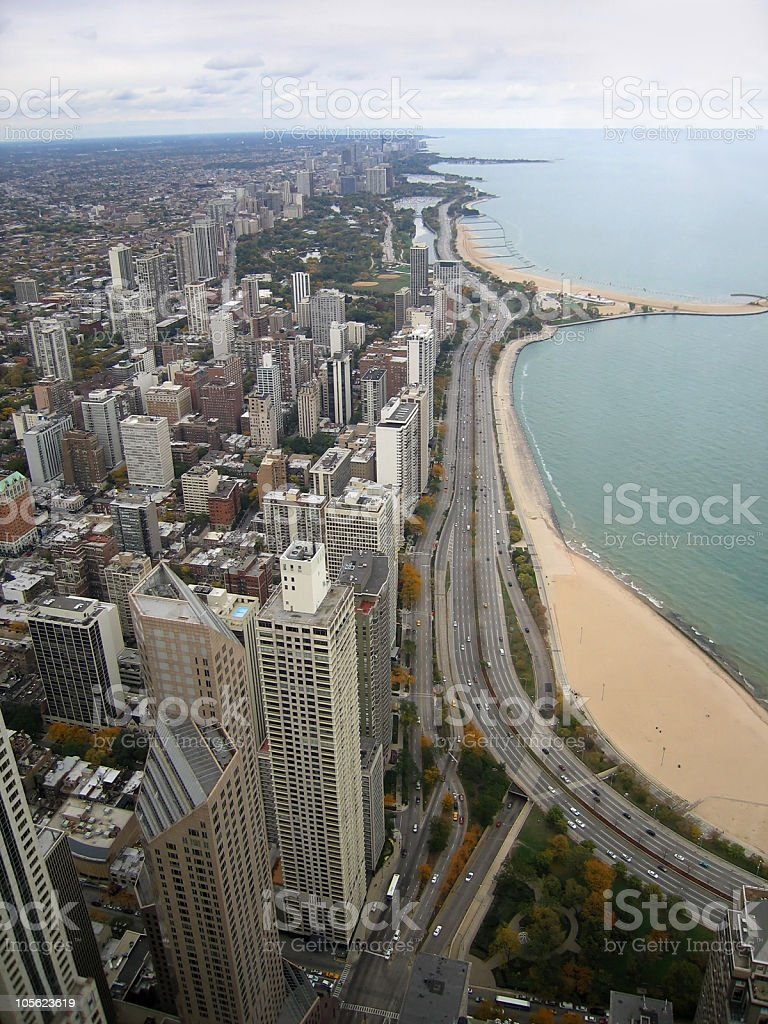 Chicago aerial view royalty-free stock photo