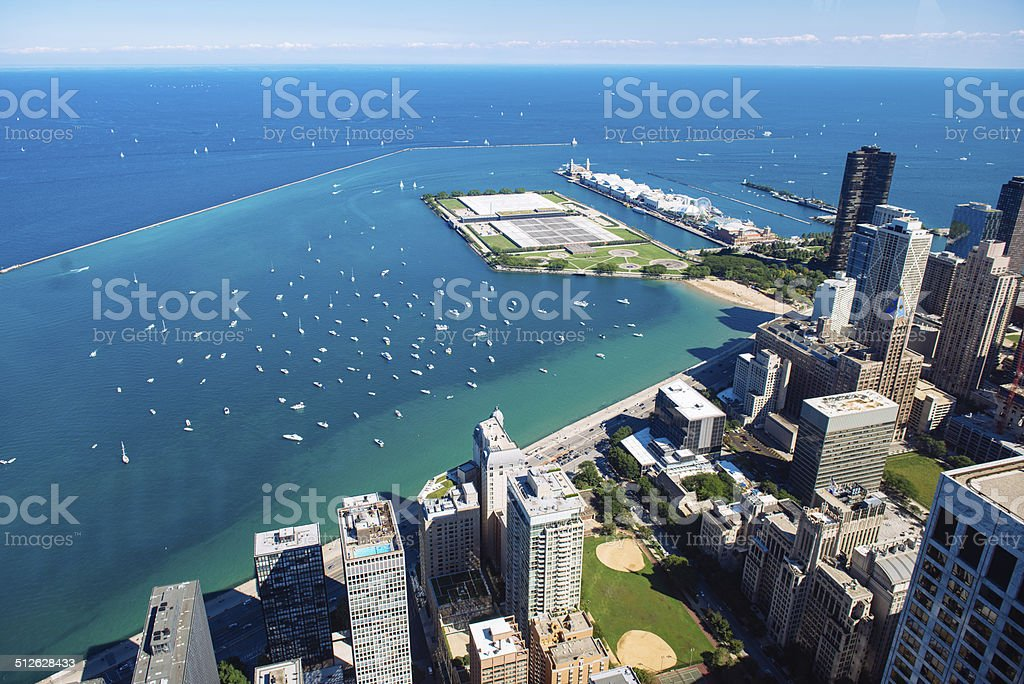 Chicago Aerial View stock photo