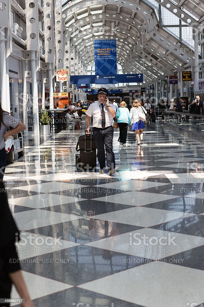 Chicago Airport royalty-free stock photo