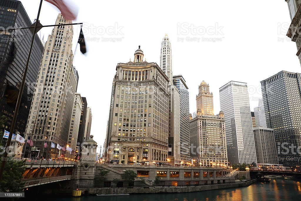 Chicago at Dusk royalty-free stock photo