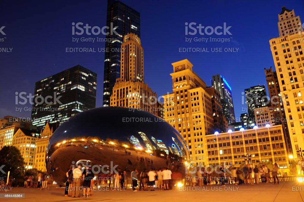 Chicago at night stock photo
