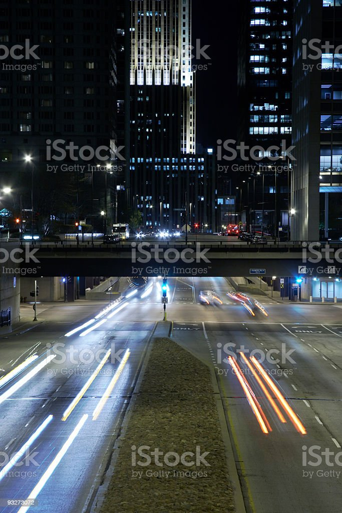 Chicago At Night royalty-free stock photo