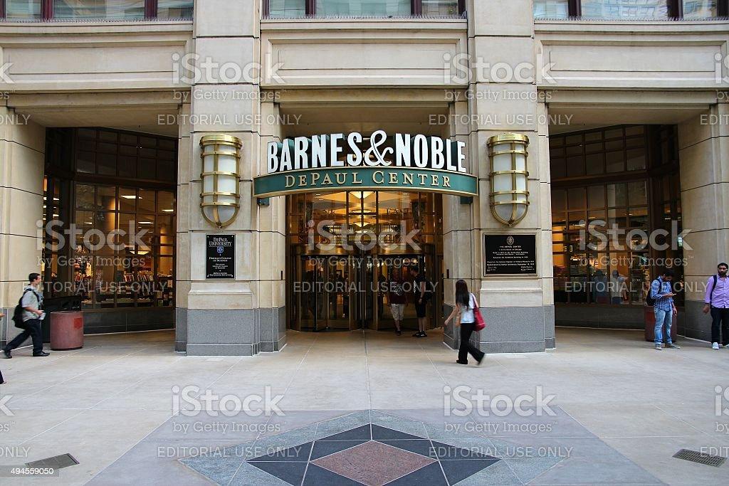 Chicago Barnes Noble stock photo