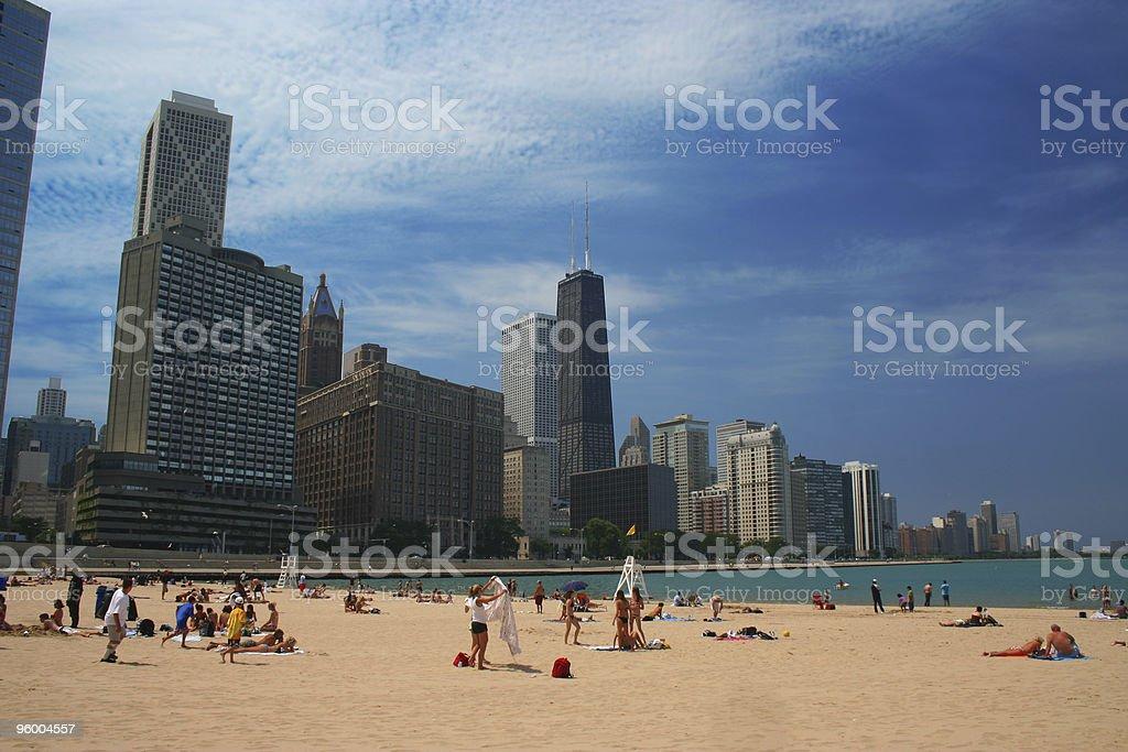 Chicago Beach stock photo