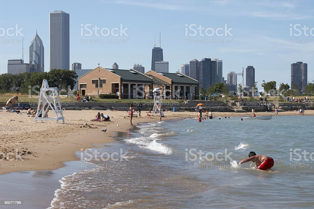 Chicago Beaches stock photo