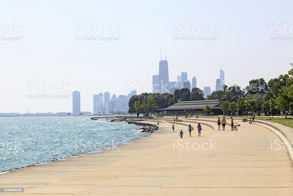 Chicago beachfront stock photo
