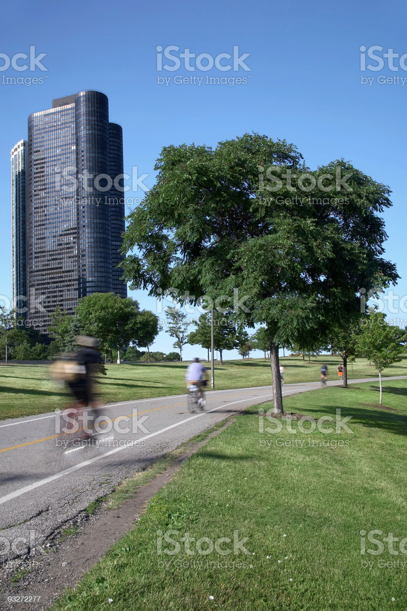 Chicago Bike Path royalty-free stock photo