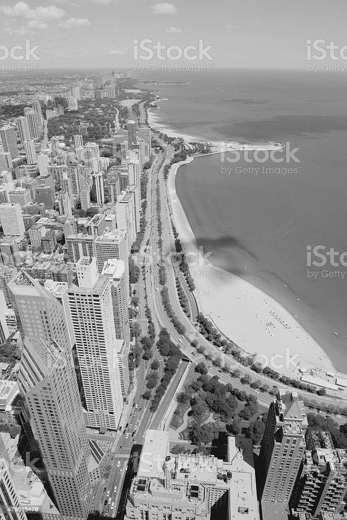 Chicago black white stock photo